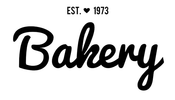 The beginning of a logo and label