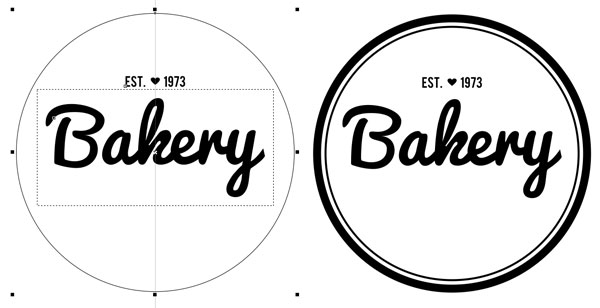 Setting up circles to create a label