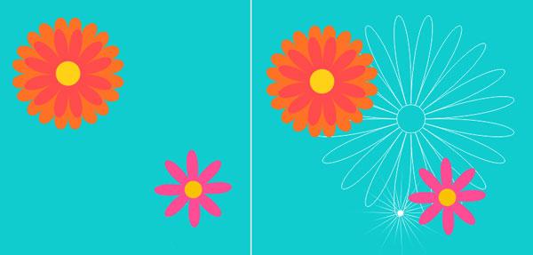 Arrange your flower shapes