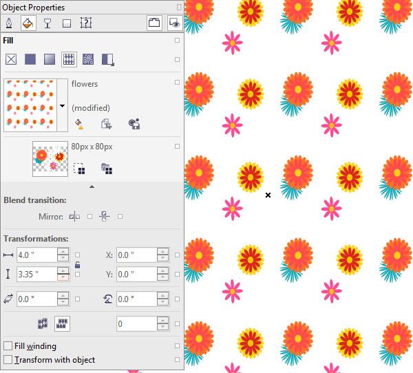 Adjust your patterns tiles