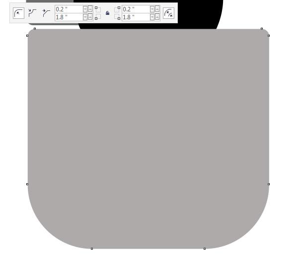 alter the large rectangles corner radii