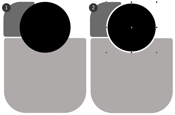 simplify the objects and reduce the circles size