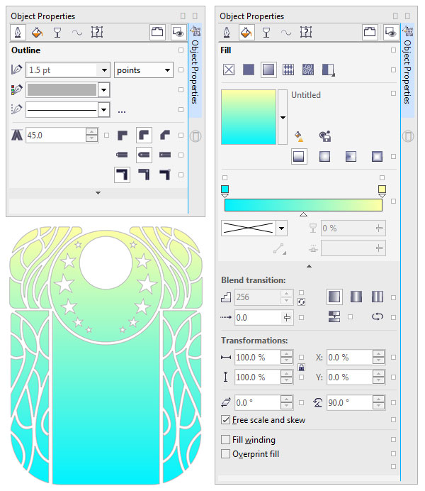 Add colors to the background shapes