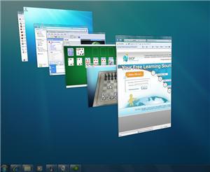 aero desktop with Peek 3D