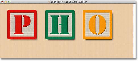 Distributing the blocks horizontally in the document.