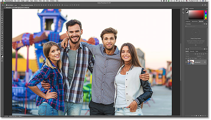 A photo open in Photoshop CC