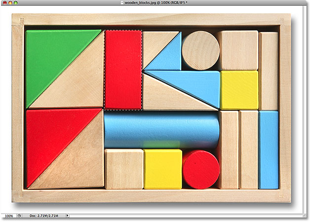 The wooden block is now selected.