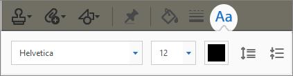 Text Properties toolbar