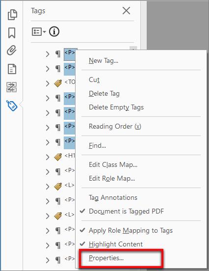 Edit properties of multiple tags