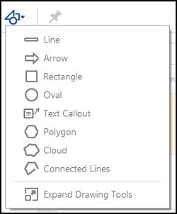 Drawing tools menu in Acrobat