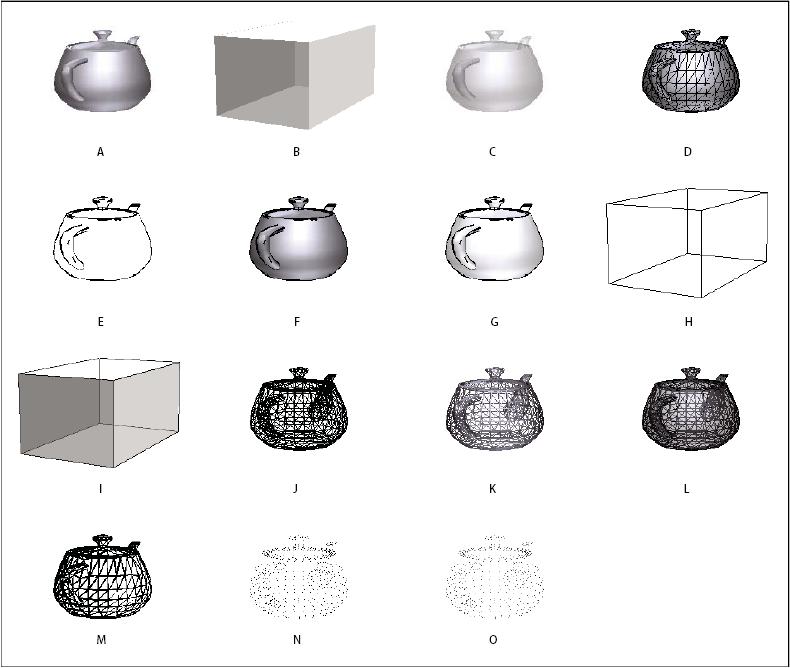 Model rendering modes