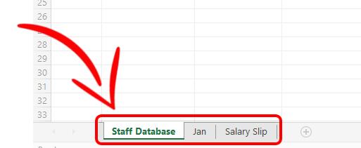 Staff Salary Sheets