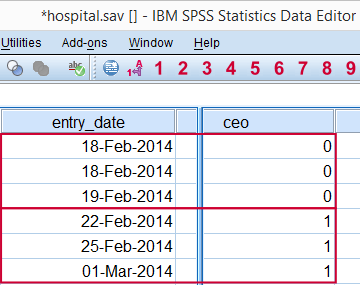 SPSS Date.dmy Function Example