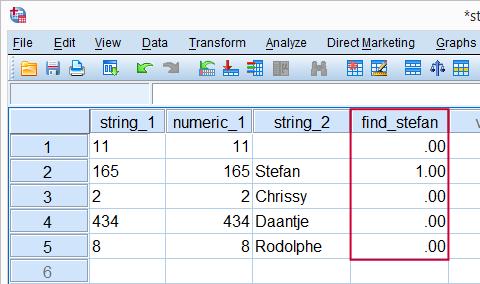 SPSS String Variable Flag Cases