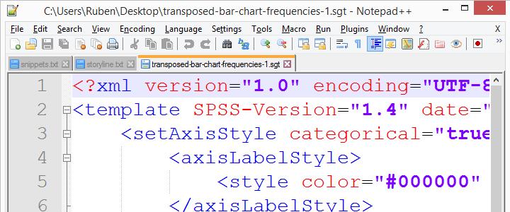 SPSS Chart Template Xml Notepad