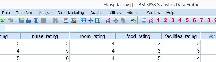 SPSS Hospital Dataset